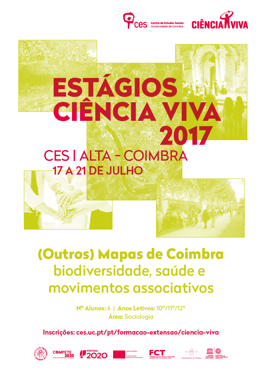 "(Other) Maps of Coimbra - biodiversity, health and associative movements<span id=""edit_17454""><script>$(function() { $('#edit_17454').load( ""/myces/user/editobj.php?tipo=evento&id=17454"" ); });</script></span>"
