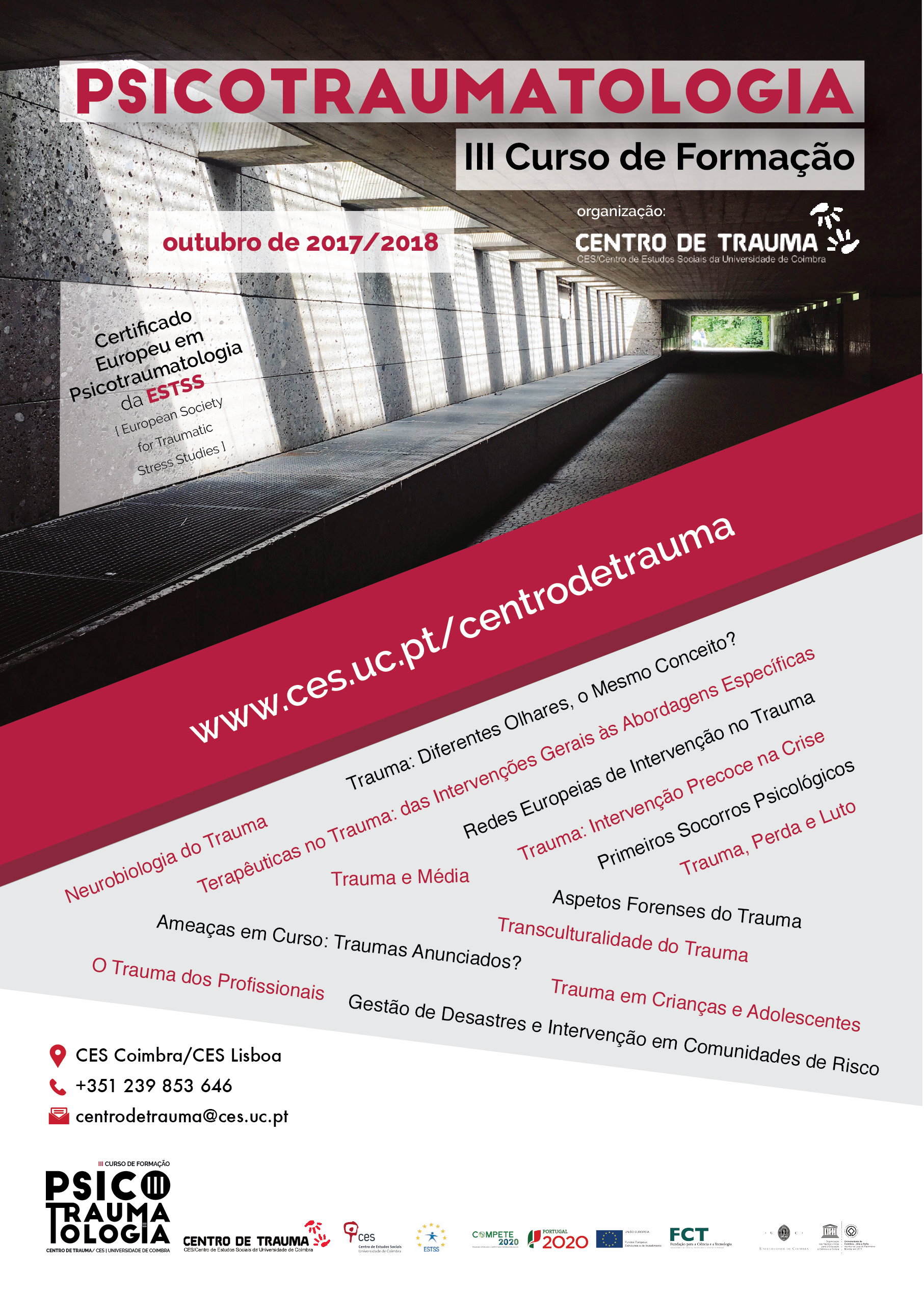 "III Course on Psychotraumatology of the Trauma Centre/CES<span id=""edit_17824""><script>$(function() { $('#edit_17824').load( ""/myces/user/editobj.php?tipo=evento&id=17824"" ); });</script></span>"