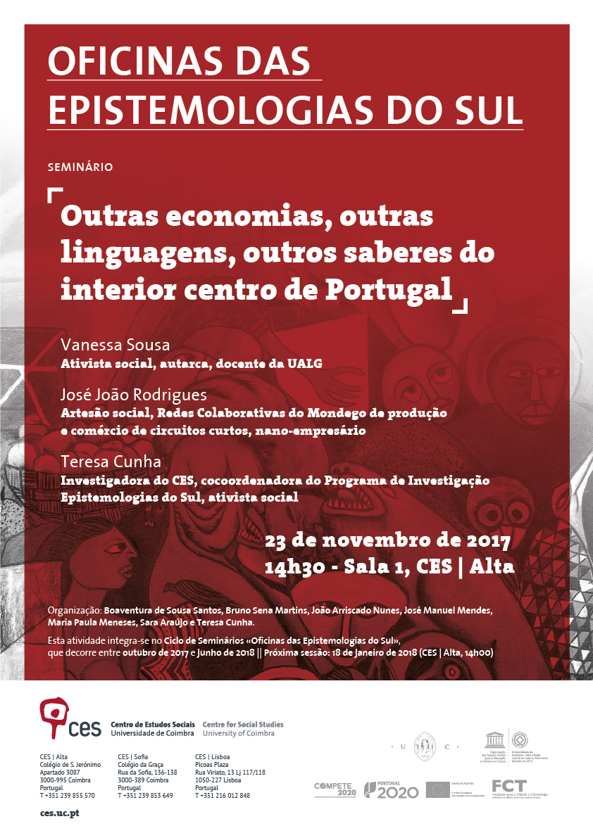 "Territórios que gritam | Outras economias, outras linguagens, outros saberes do interior centro de Portugal<span id=""edit_18436""><script>$(function() { $('#edit_18436').load( ""/myces/user/editobj.php?tipo=evento&id=18436"" ); });</script></span>"