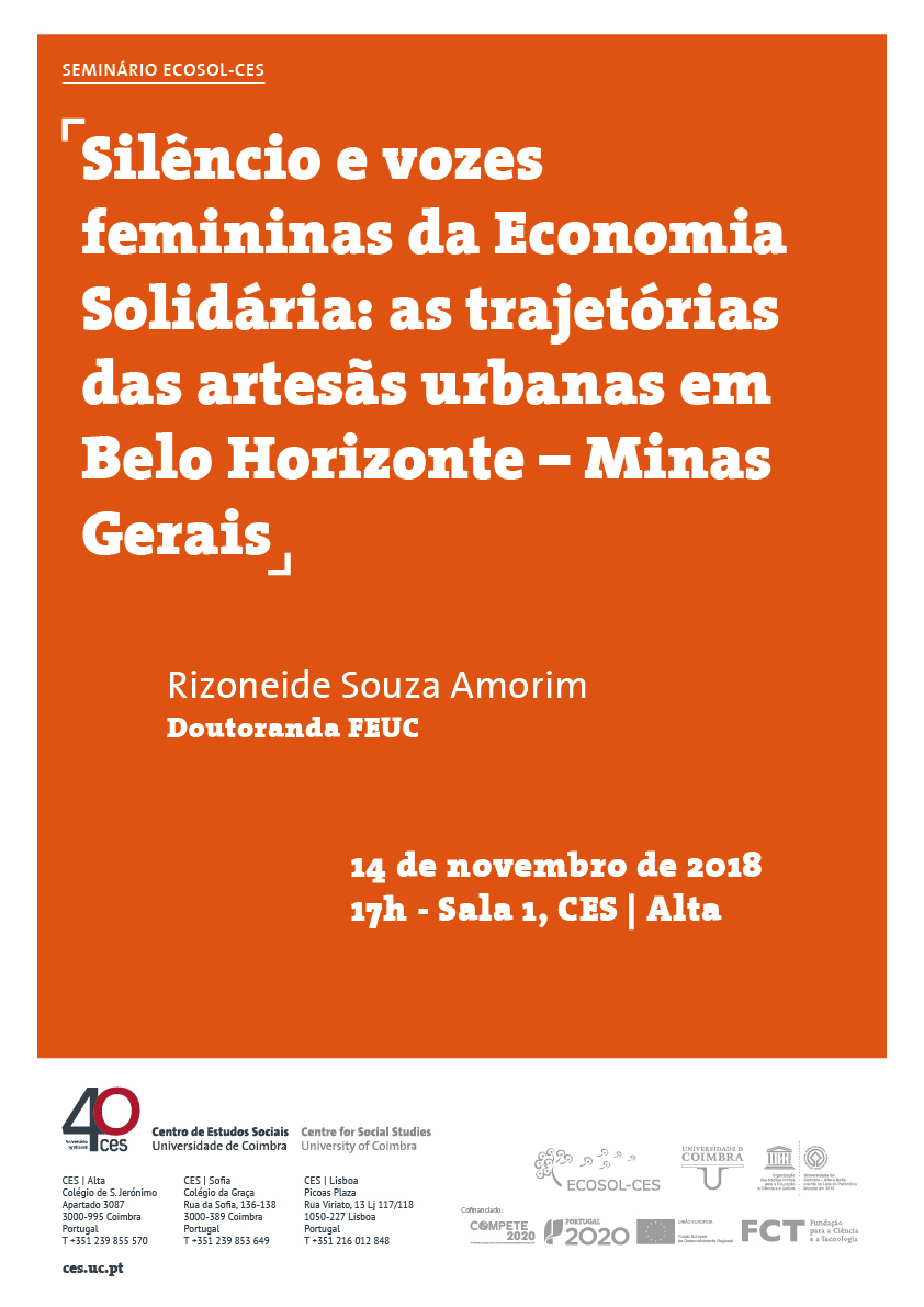 "Solidarity Economy' s Silence and Voices of Women: trajectories of urban artisans in Belo Horizonte - Minas Gerais<span id=""edit_18450""><script>$(function() { $('#edit_18450').load( ""/myces/user/editobj.php?tipo=evento&id=18450"" ); });</script></span>"