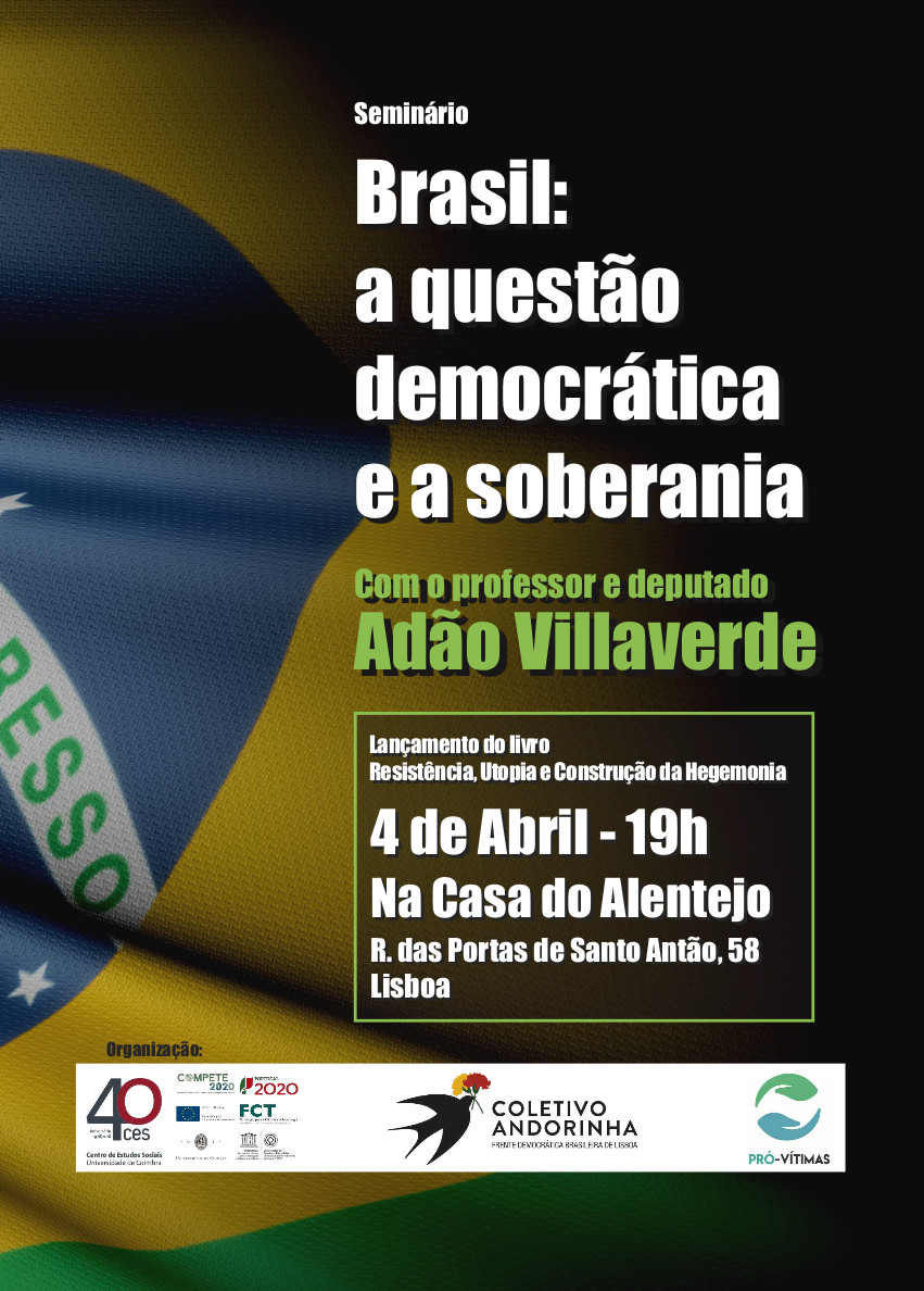"Brasil: a questão democrática e a soberania<span id=""edit_19518""><script>$(function() { $('#edit_19518').load( ""/myces/user/editobj.php?tipo=evento&id=19518"" ); });</script></span>"