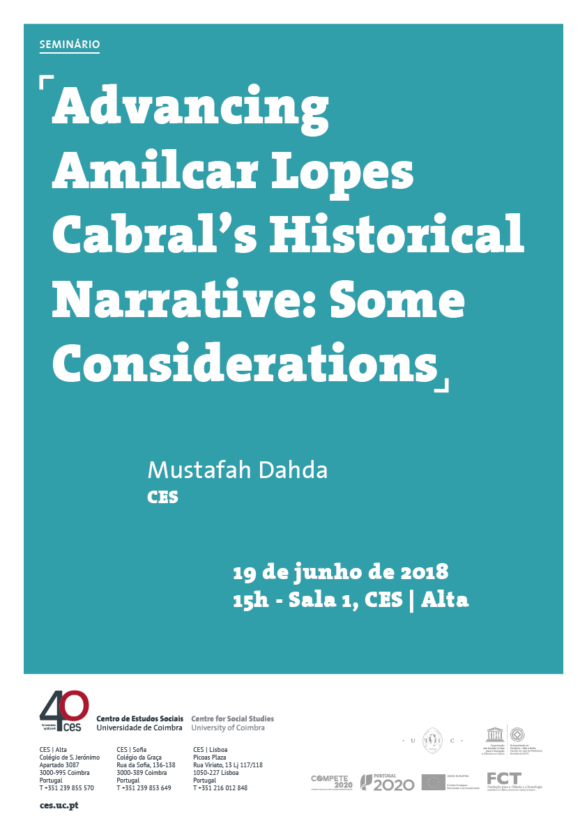 "Advancing Amilcar Lopes Cabral's Historical Narrative: Some Considerations<span id=""edit_19769""><script>$(function() { $('#edit_19769').load( ""/myces/user/editobj.php?tipo=evento&id=19769"" ); });</script></span>"