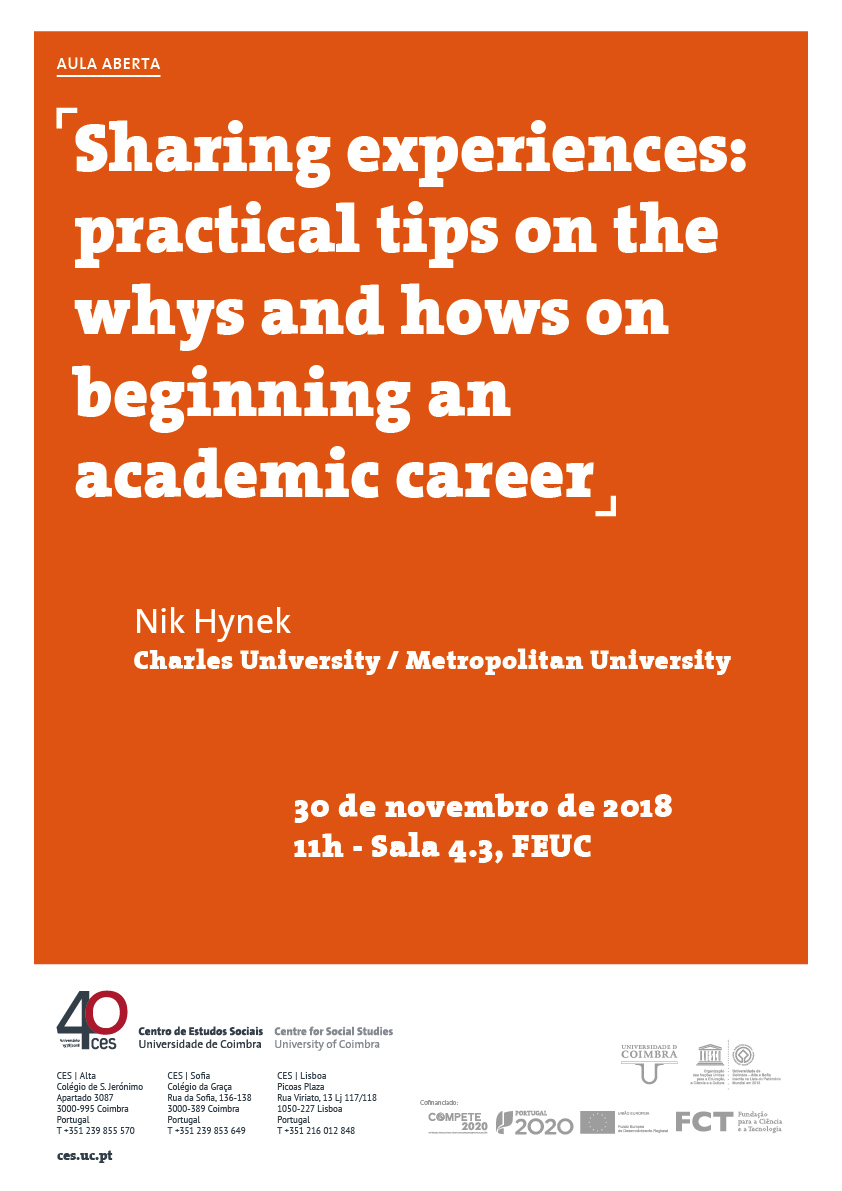 "Sharing experiences: practical tips on the whys and hows on beginning an academic career<span id=""edit_21005""><script>$(function() { $('#edit_21005').load( ""/myces/user/editobj.php?tipo=evento&id=21005"" ); });</script></span>"