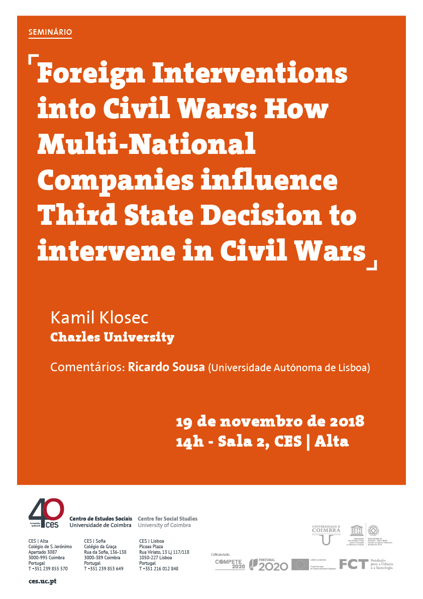 "Foreign Interventions into Civil Wars: How Multi-National Companies influence Third State Decision to intervene in Civil Wars<span id=""edit_21257""><script>$(function() { $('#edit_21257').load( ""/myces/user/editobj.php?tipo=evento&id=21257"" ); });</script></span>"