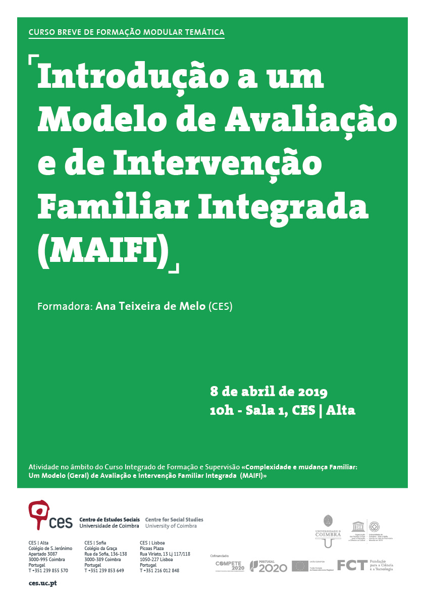 "Complexity and family change: a (general) model of evaluation and integrated family intervention (MAIFI)<span id=""edit_23591""><script>$(function() { $('#edit_23591').load( ""/myces/user/editobj.php?tipo=evento&id=23591"" ); });</script></span>"