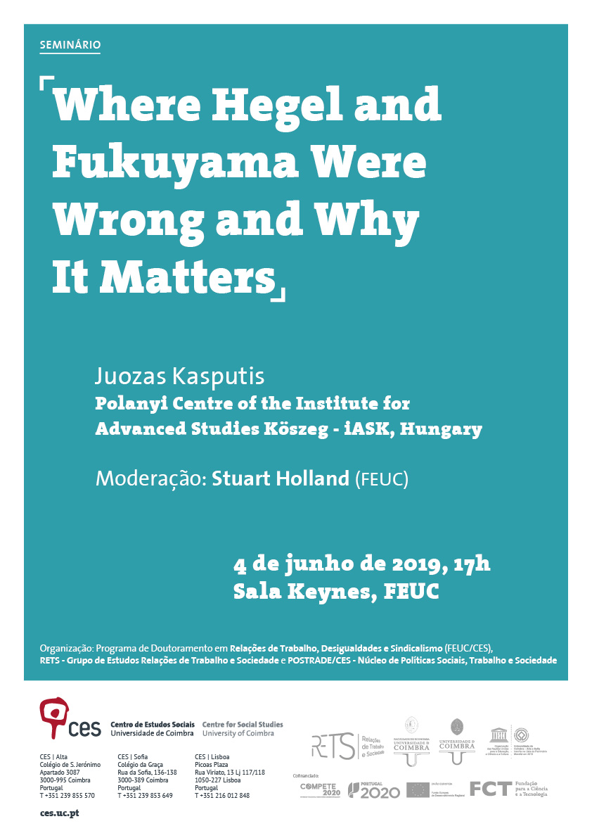 "Where Hegel and Fukuyama Were Wrong and Why It Matters<span id=""edit_25505""><script>$(function() { $('#edit_25505').load( ""/myces/user/editobj.php?tipo=evento&id=25505"" ); });</script></span>"