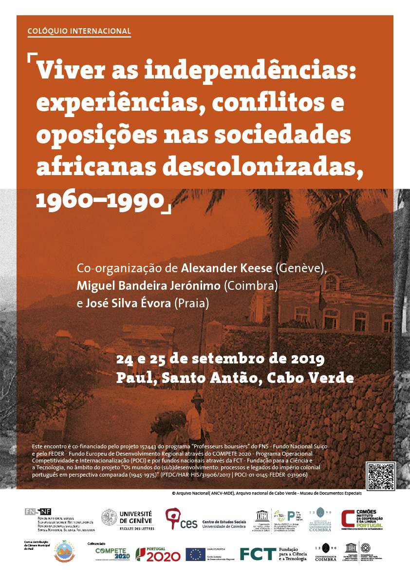 "Living Independence(ies): Experiences, Conflict, and Opposition in Decolonised African Societies, 1960–1990<span id=""edit_26315""><script>$(function() { $('#edit_26315').load( ""/myces/user/editobj.php?tipo=evento&id=26315"" ); });</script></span>"