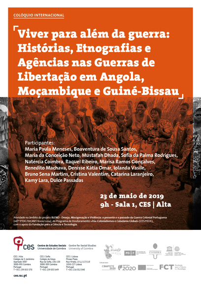 "Bridging the Divide: Histories, Ethnographies and Agencies in the Liberation Wars in Angola, Mozambique and Guinea-Bissau<span id=""edit_23916""><script>$(function() { $('#edit_23916').load( ""/myces/user/editobj.php?tipo=evento&id=23916"" ); });</script></span>"