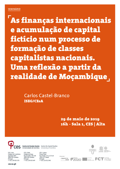 International finance and accumulation of fictitious capital over national capitalist class formation. A reflection from the reality of Mozambique<br />