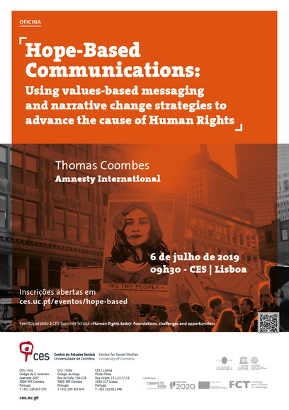 "Hope-Based Communications: Using values-based messaging and narrative change strategies to advance the cause of Human Rights<span id=""edit_24941""><script>$(function() { $('#edit_24941').load( ""/myces/user/editobj.php?tipo=evento&id=24941"" ); });</script></span>"