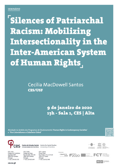 "Silences of Patriarchal Racism: Mobilizing Intersectionality in the Inter-American System of Human Rights<span id=""edit_27476""><script>$(function() { $('#edit_27476').load( ""/myces/user/editobj.php?tipo=evento&id=27476"" ); });</script></span>"